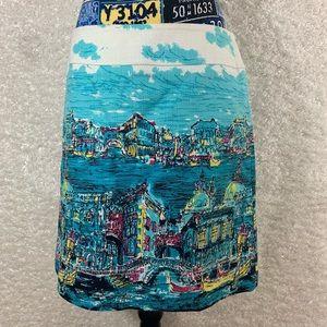Talbots Venice scene skirt